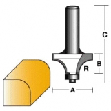 CARBITOOL Edge & Face Forming Bits - ROUNDING OVER BITS