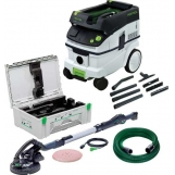 FESTOOL Long-reach sander, LHS 225 EQ-Set with CT Auto Clean