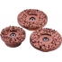 PROTOOL PROTOOL Set of three grinding discs - Hard Metal, fine